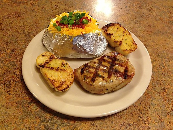 Pork Chop with baked potato