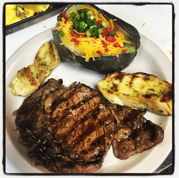 Rib Eye Dinner with baked potato